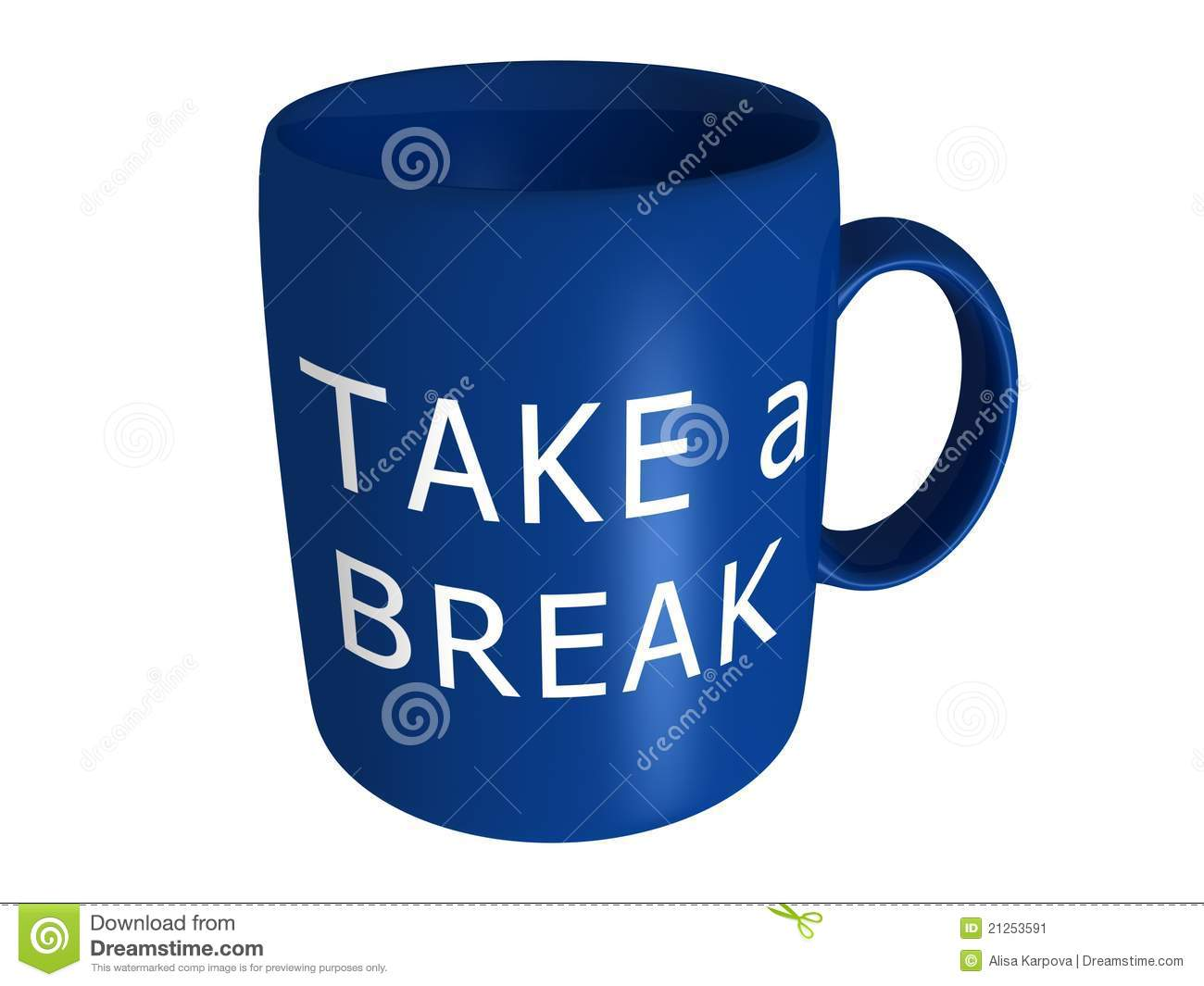 take a break coffee cup stock image image 21253591