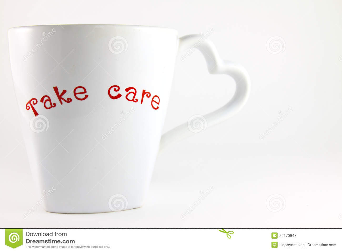 Take Care Word On A Lover Cup Of Coffee Stock Photo Image Of