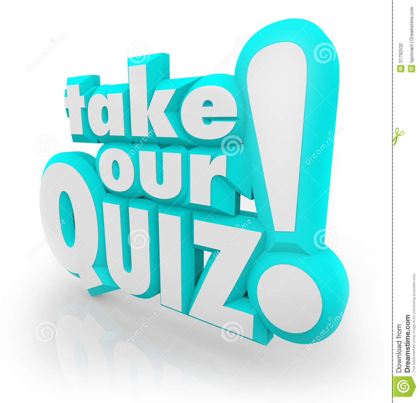 Take Our Quiz 3d Letters Words Assessment Test Stock