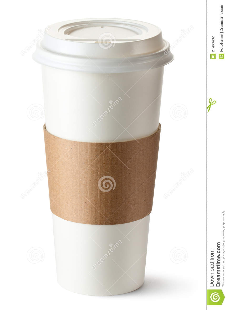 Take Out Coffee With Cup Holder Stock Photo Image Of