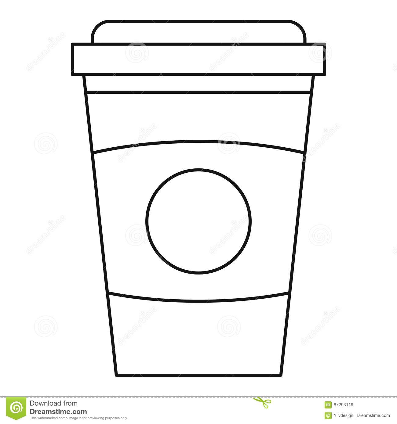 starbucks cup outline pictures to pin on pinterest pinsdaddy