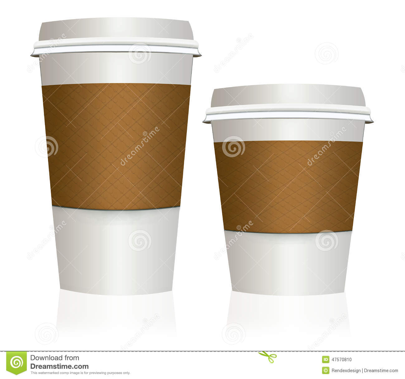 Small Pix Of Large Cups To : Take out to go coffee cup big and small stock