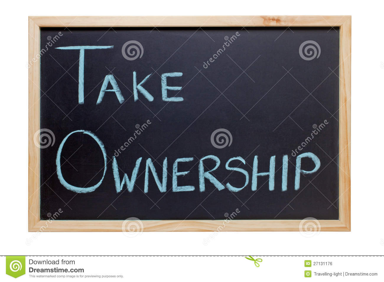 Blackboard with the words Take Ownership - ideal for presentations and ...