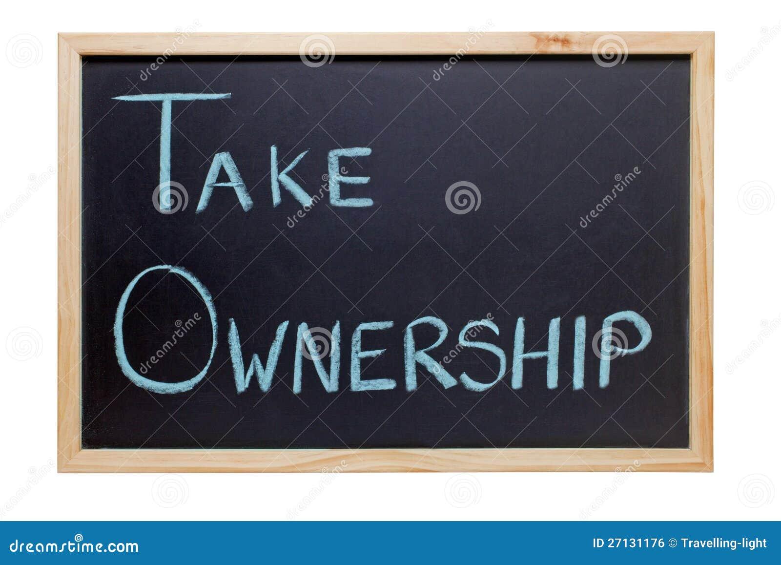 Download Take Ownership Blackboard stock photo. Image of take - 27131176