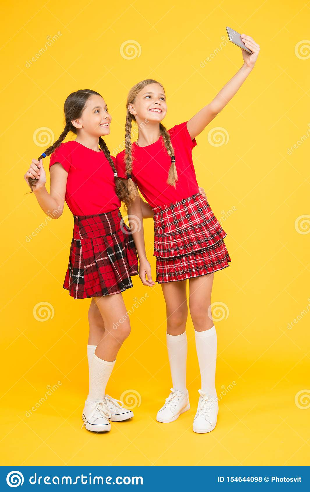 Girls Just Want To take perfect photo. girls just want to have fun. schoolgirls