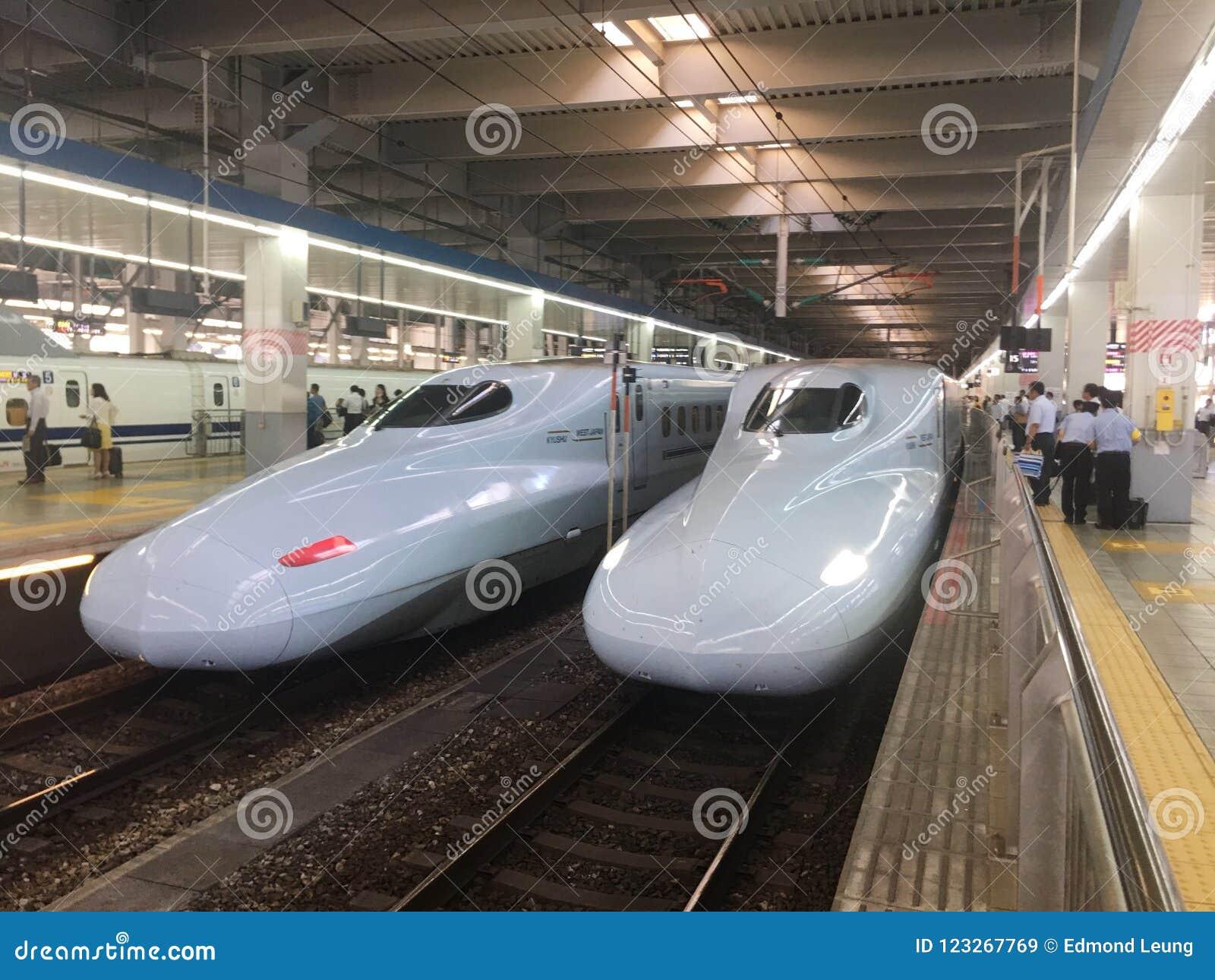 Super express in Japan hakataku station.