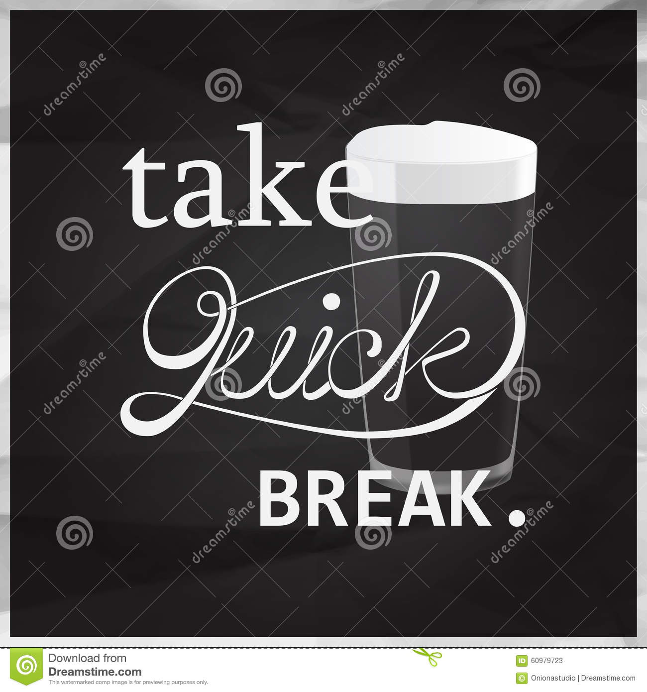 Take quick brake quote stock vector  Illustration of