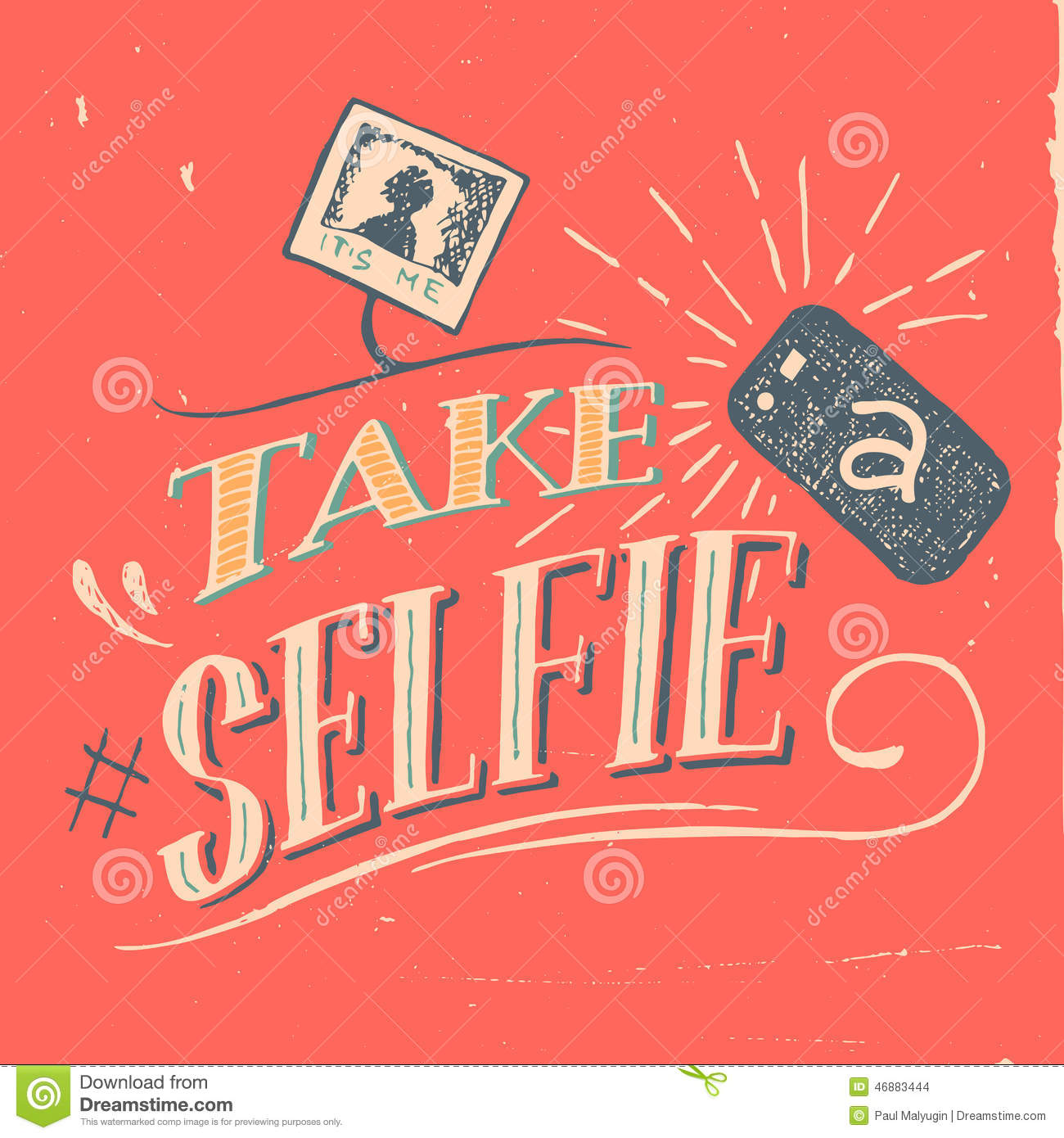 take a selfie poster stock vector   image 46883444