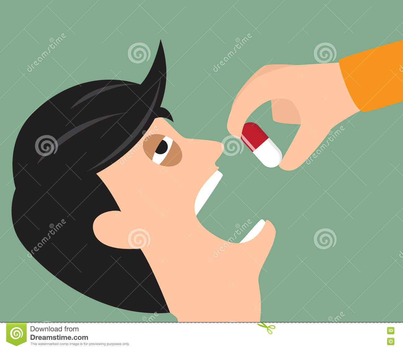 Take Medicine Stock Photography