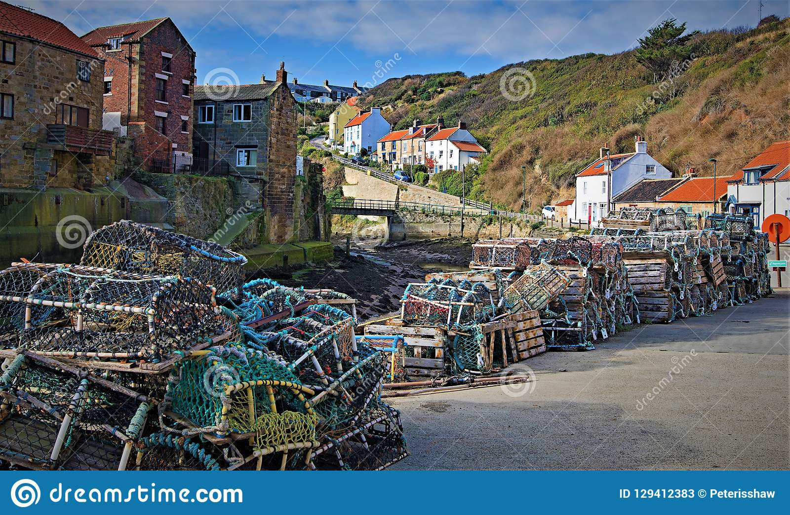 Lobster Pots trail, in Staithes, near Scarborough, in North Yorkshire.