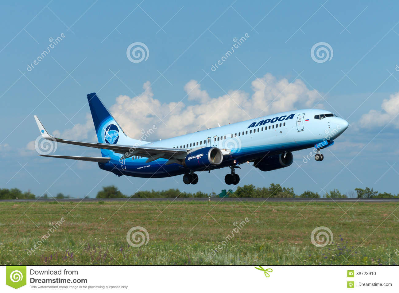 Takeoff Of The Aircraft Boeing-737, Rostov-on-Don, Russia
