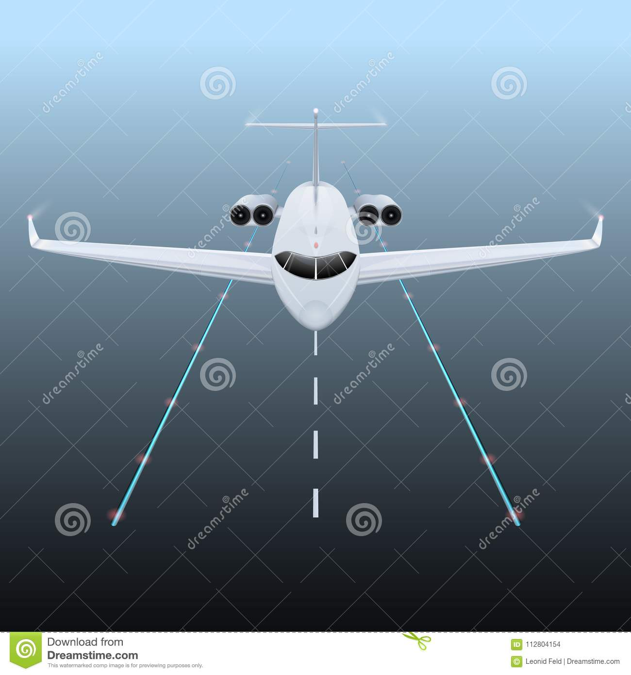 Airplane on the sky stock vector  Illustration of speed