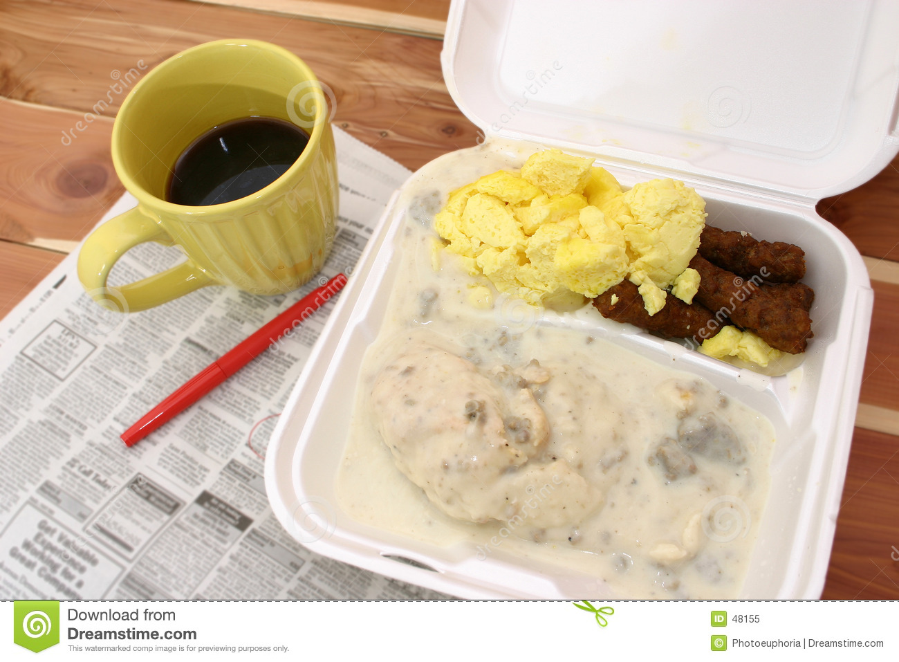 Takeout frukost