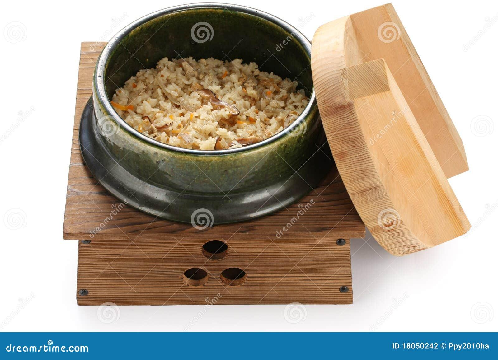 Takikomi Gohan , Japanese Mixed Rice Stock Photography - Image ...
