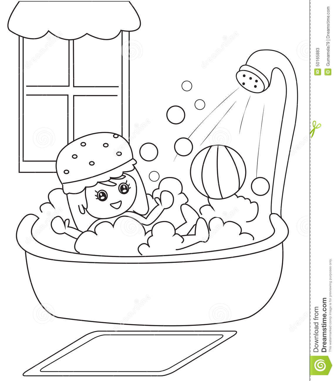 l bath time coloring pages - photo #26