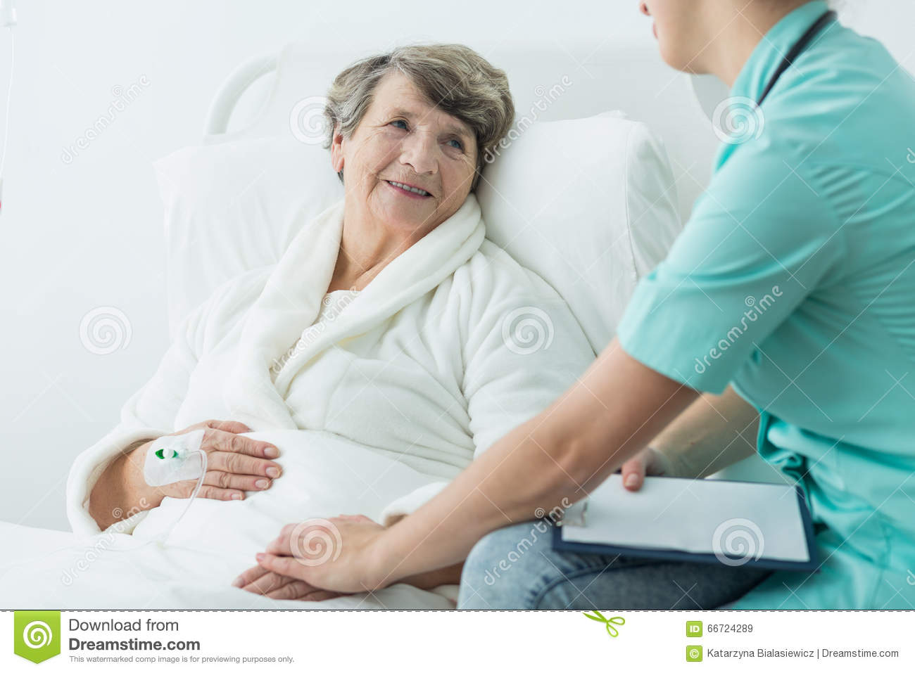Taking Care Of Patient Stock Photo - Image: 66724289