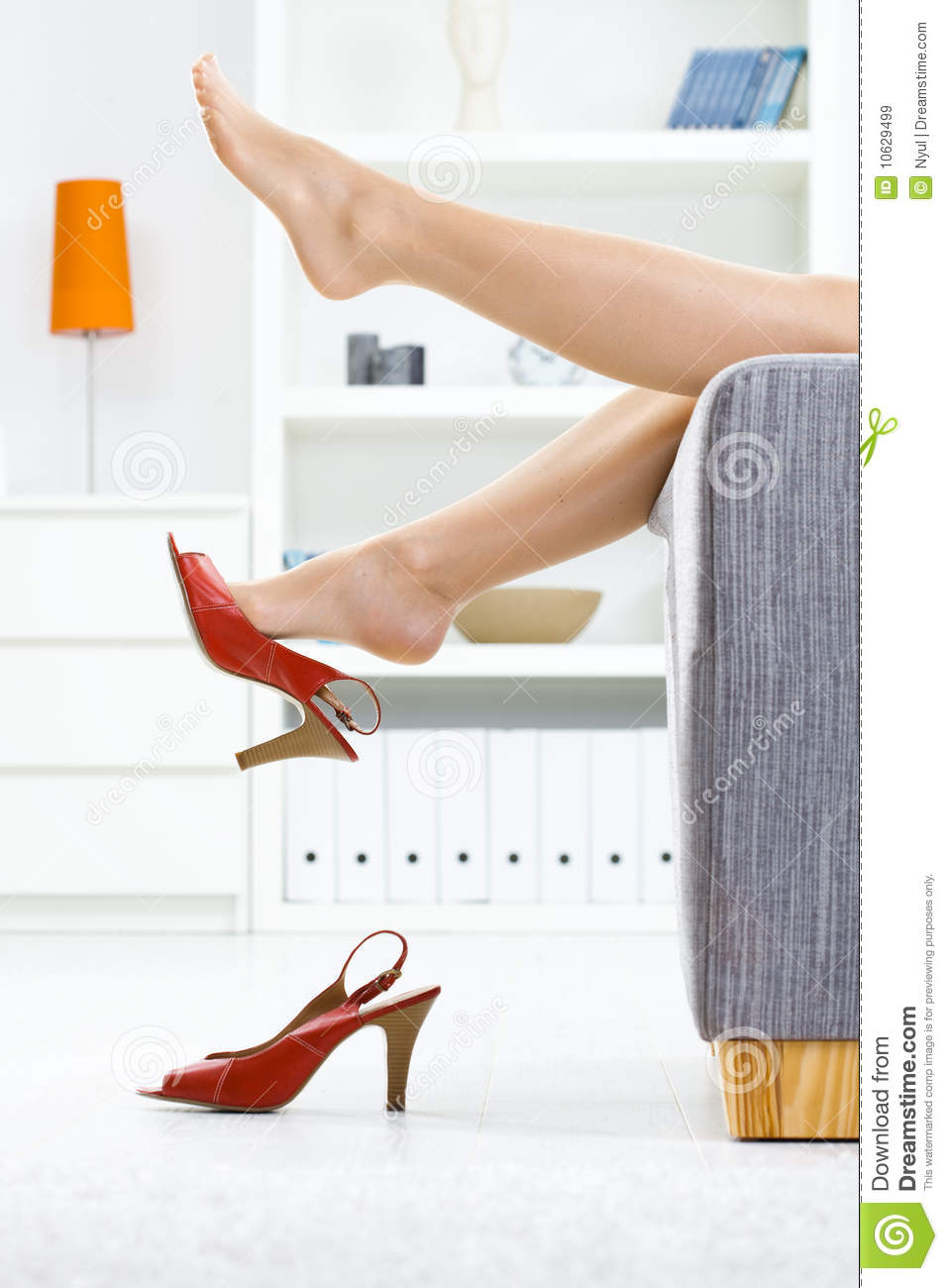 taking off shoes royalty free stock images - image: 10629499
