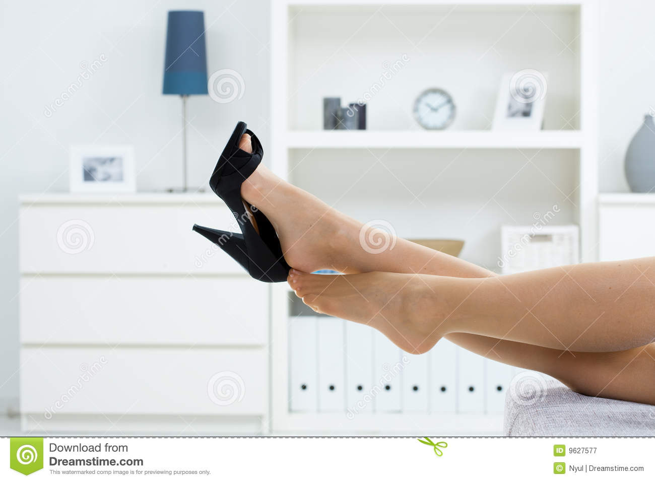 taking off shoes stock photo - image: 9730920