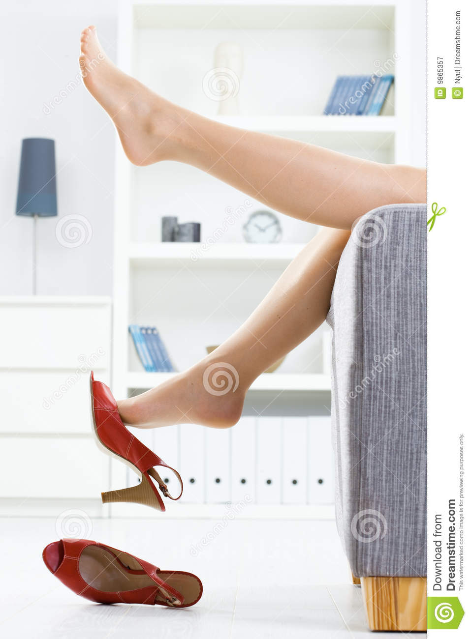 taking off shoes royalty free stock photography - image: 9865357