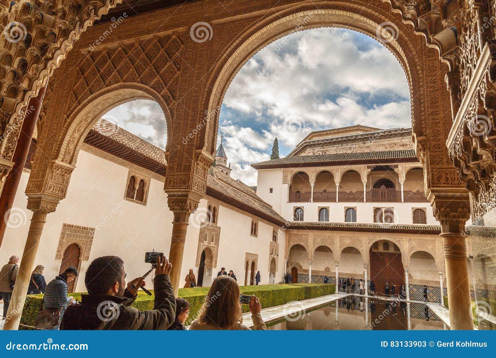 Taking photos at Alhambra