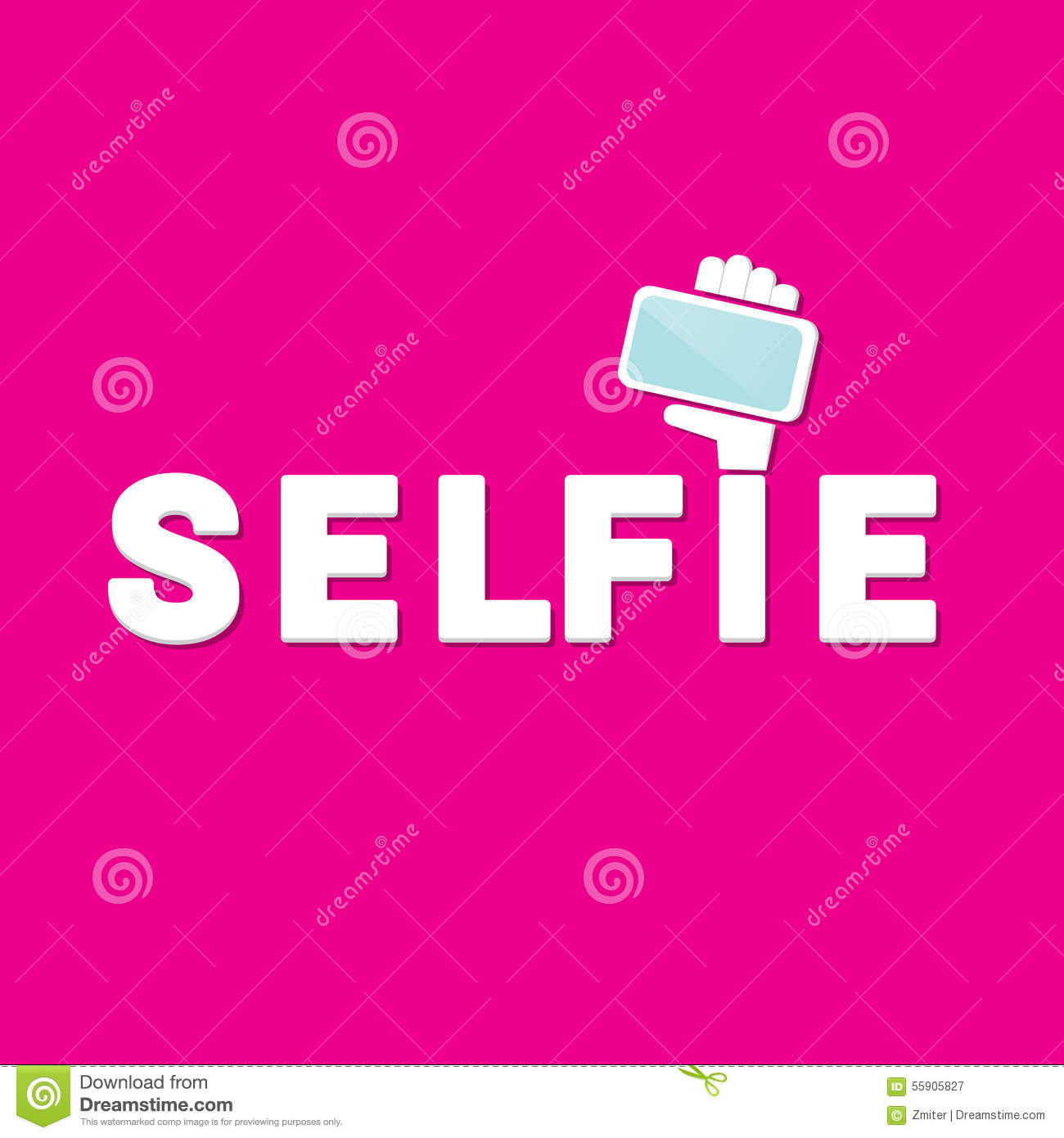 Taking Selfie Photo On Smart Phone Concept Icon Stock Vector - Image ...