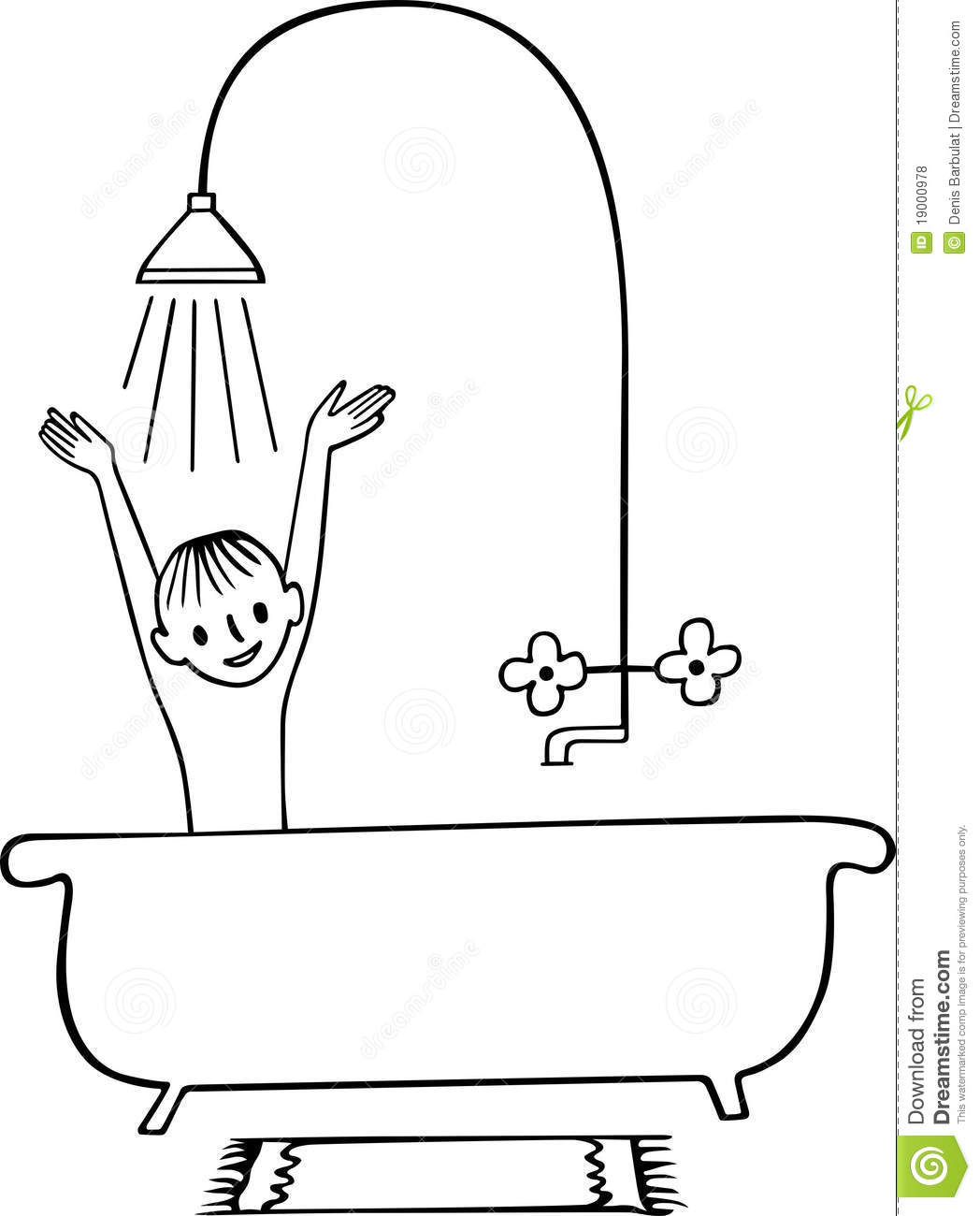Taking A Shower Boy Royalty Free Stock Photos Image 19000978