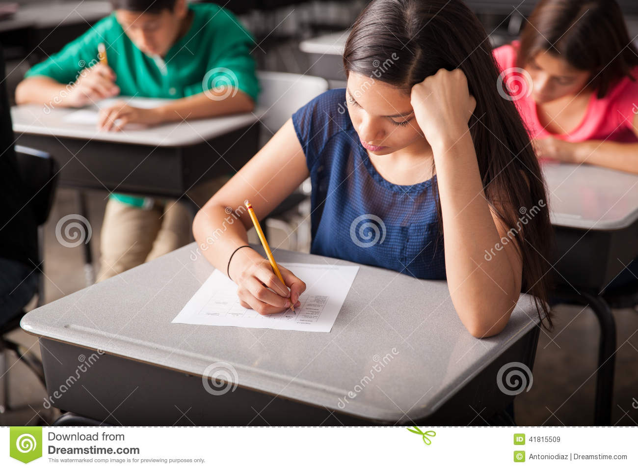 taking a test in high school stock photo image 41815509