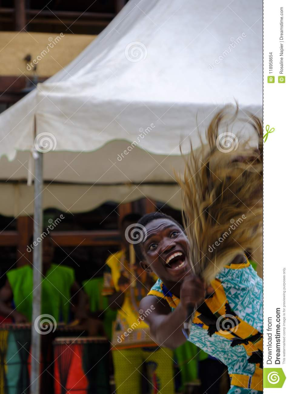 Young male dancer Ghana editorial stock image  Image of