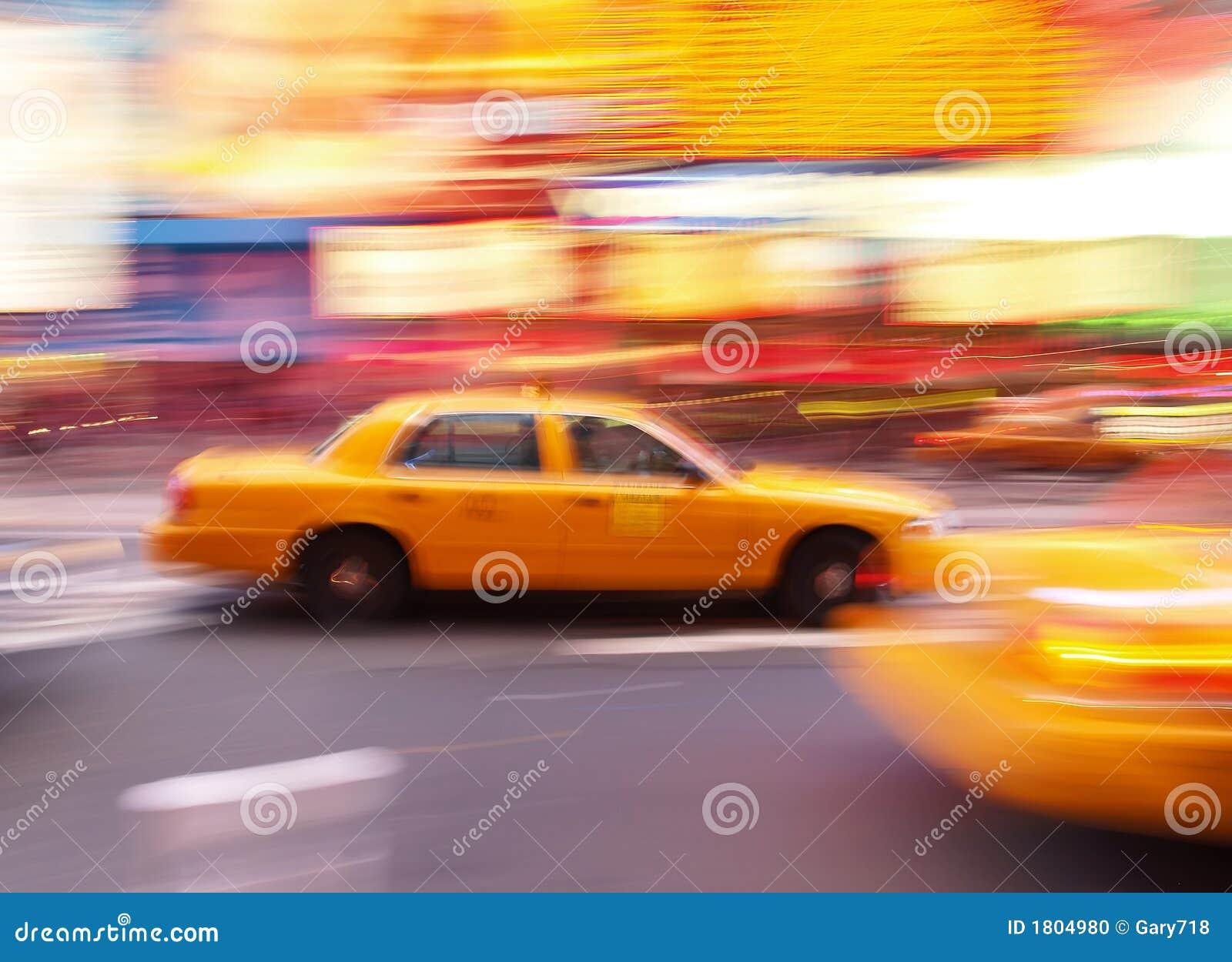 Taksówka razy kwadratowe nowego jorku