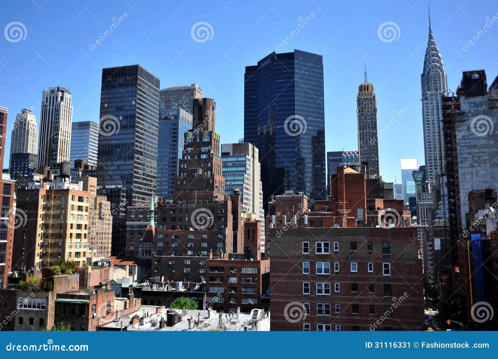 Taksikt till den övreöstliga sidan Manhattan