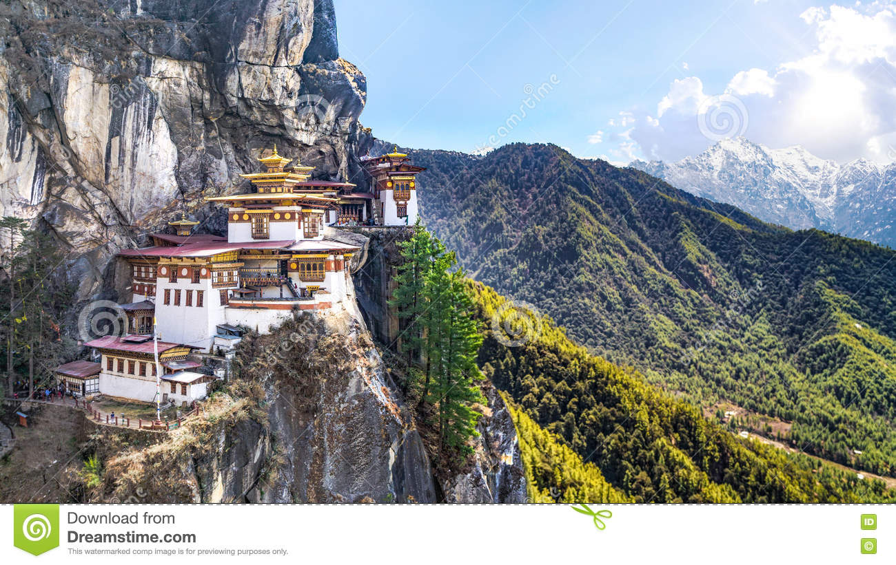 Taktshang Goemba Or Tiger's Nest Temple On Mountain ...