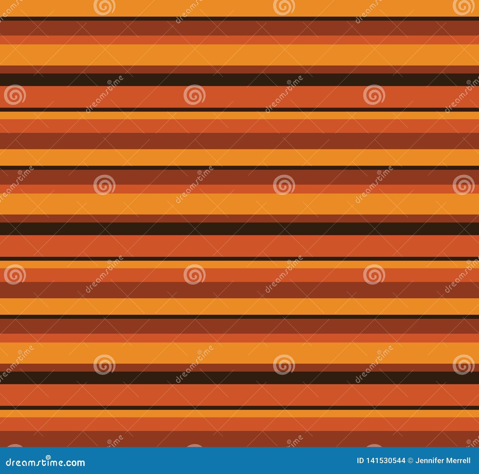 70-tal Retro Autumn Pattern