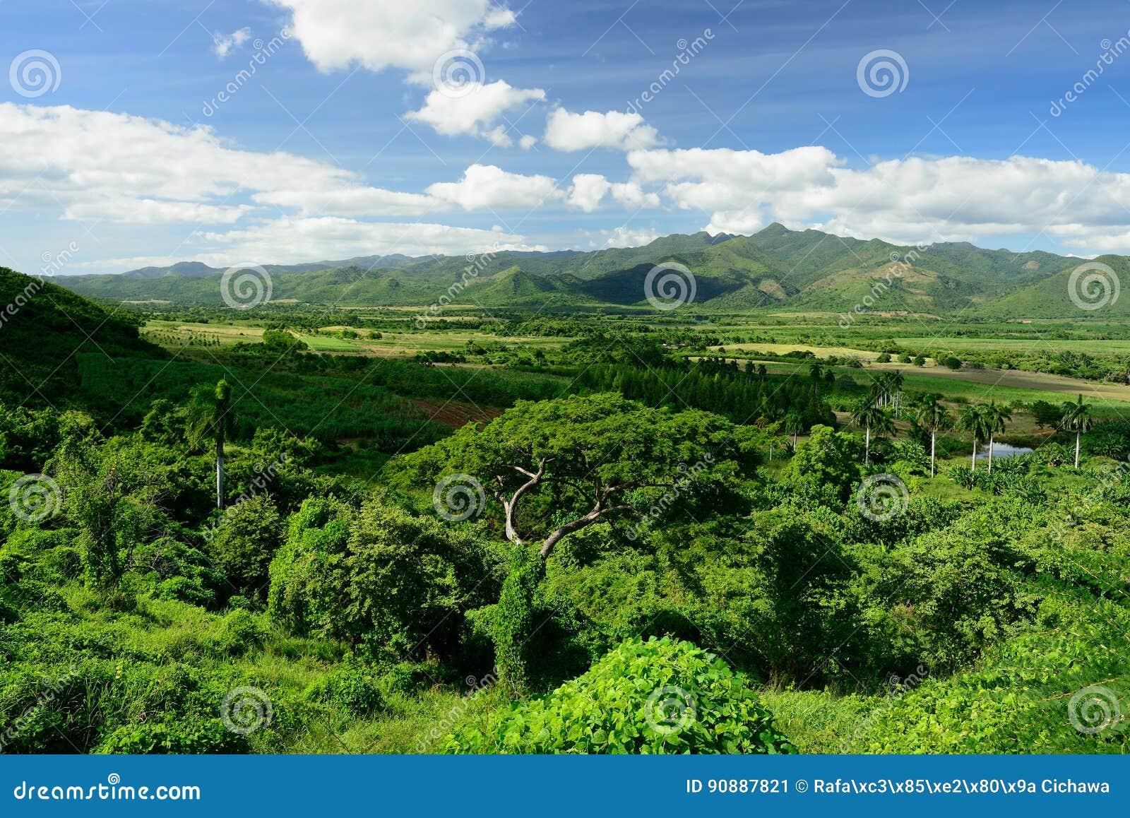 Tal Valle de Los Ingenios nahe Trinidad-Stadt in Kuba