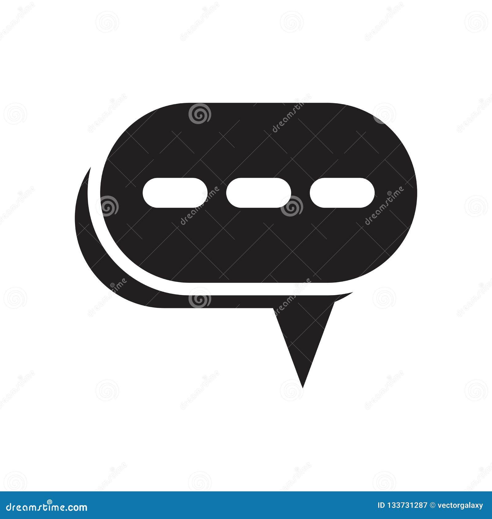 Tala tecknet för bubblasymbolsvektorn, och symbolet som isoleras på vit bakgrund, talar bubblalogobegrepp