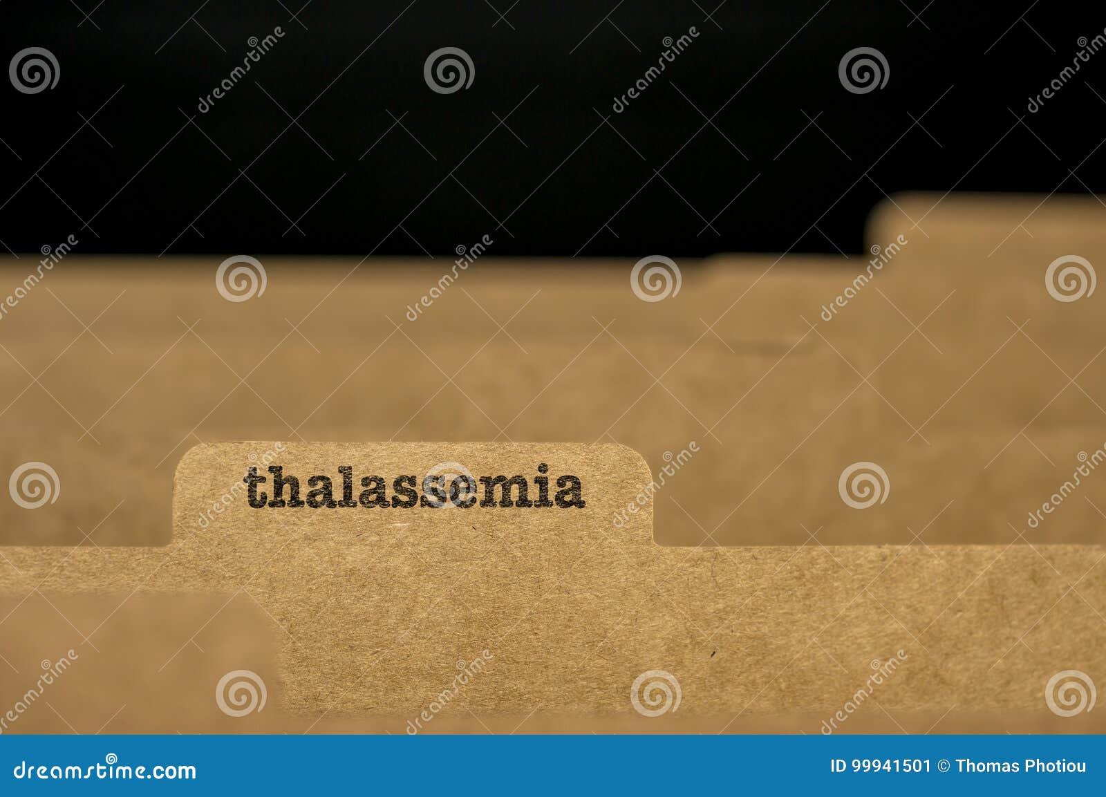 Talasemia De La Palabra En Tarjeta De índice Imagen de archivo ...
