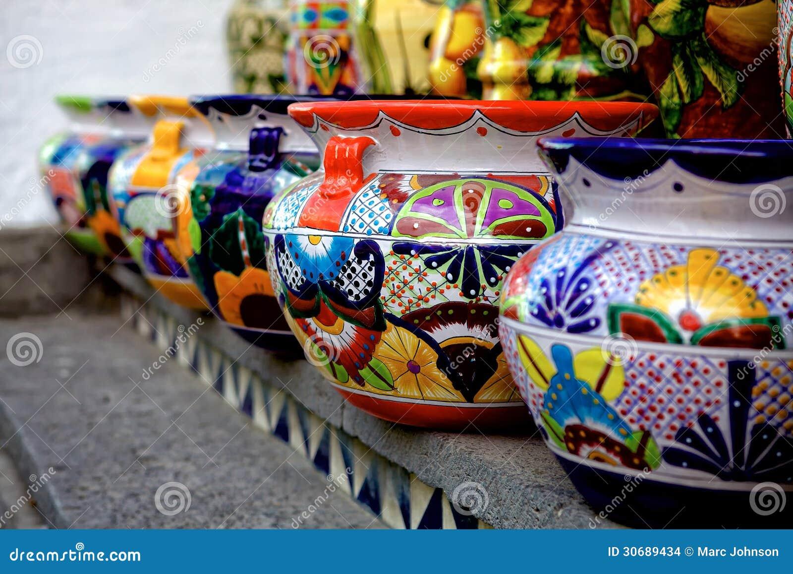Talavera Pots Stock Images Image 30689434