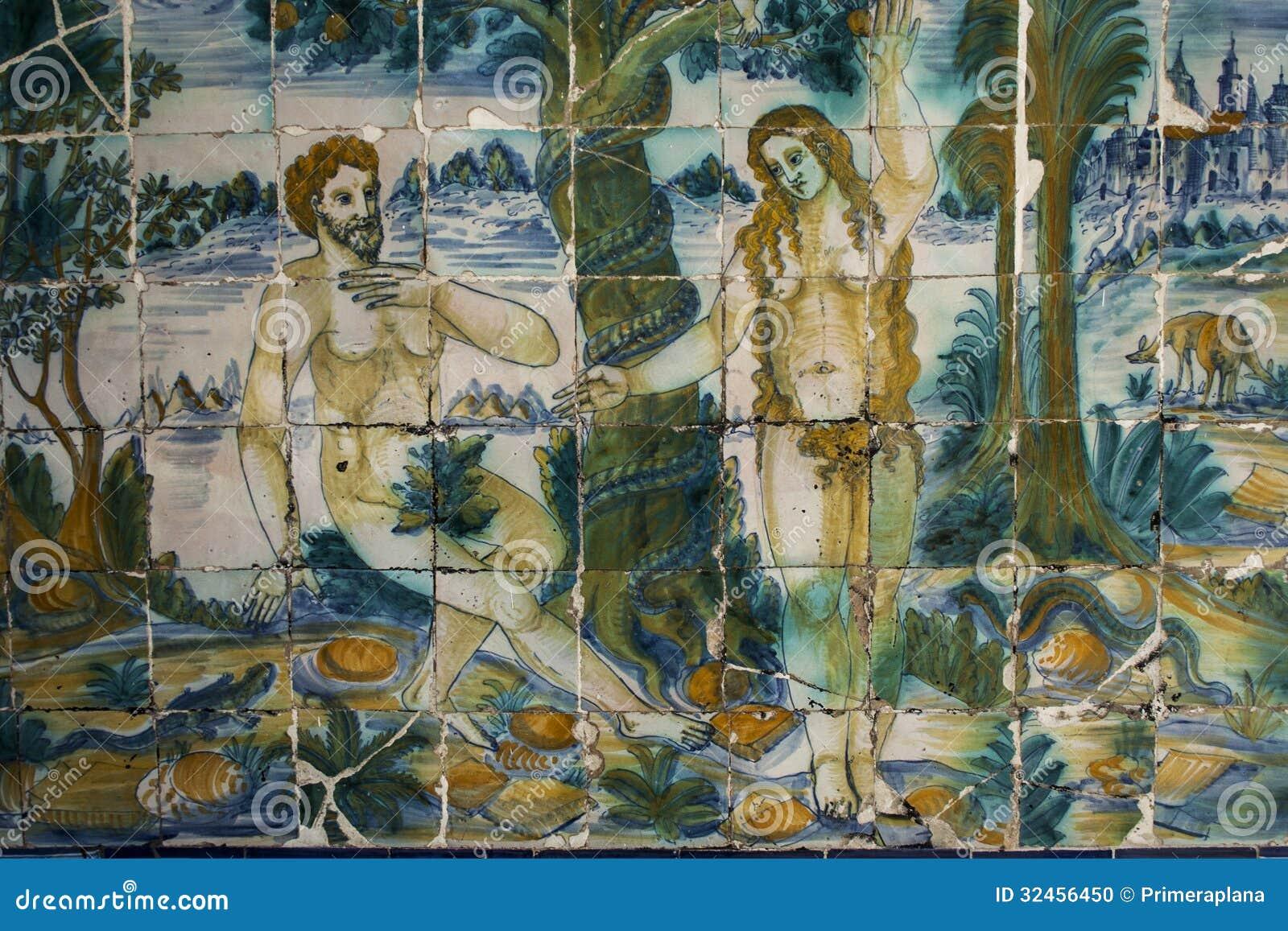 Talavera pottery tiles basilica del prado talavera de la - La reina del mueble talavera ...