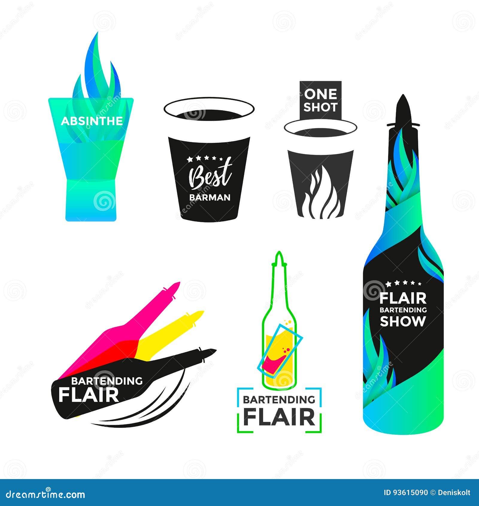 Talent bartending pictogram