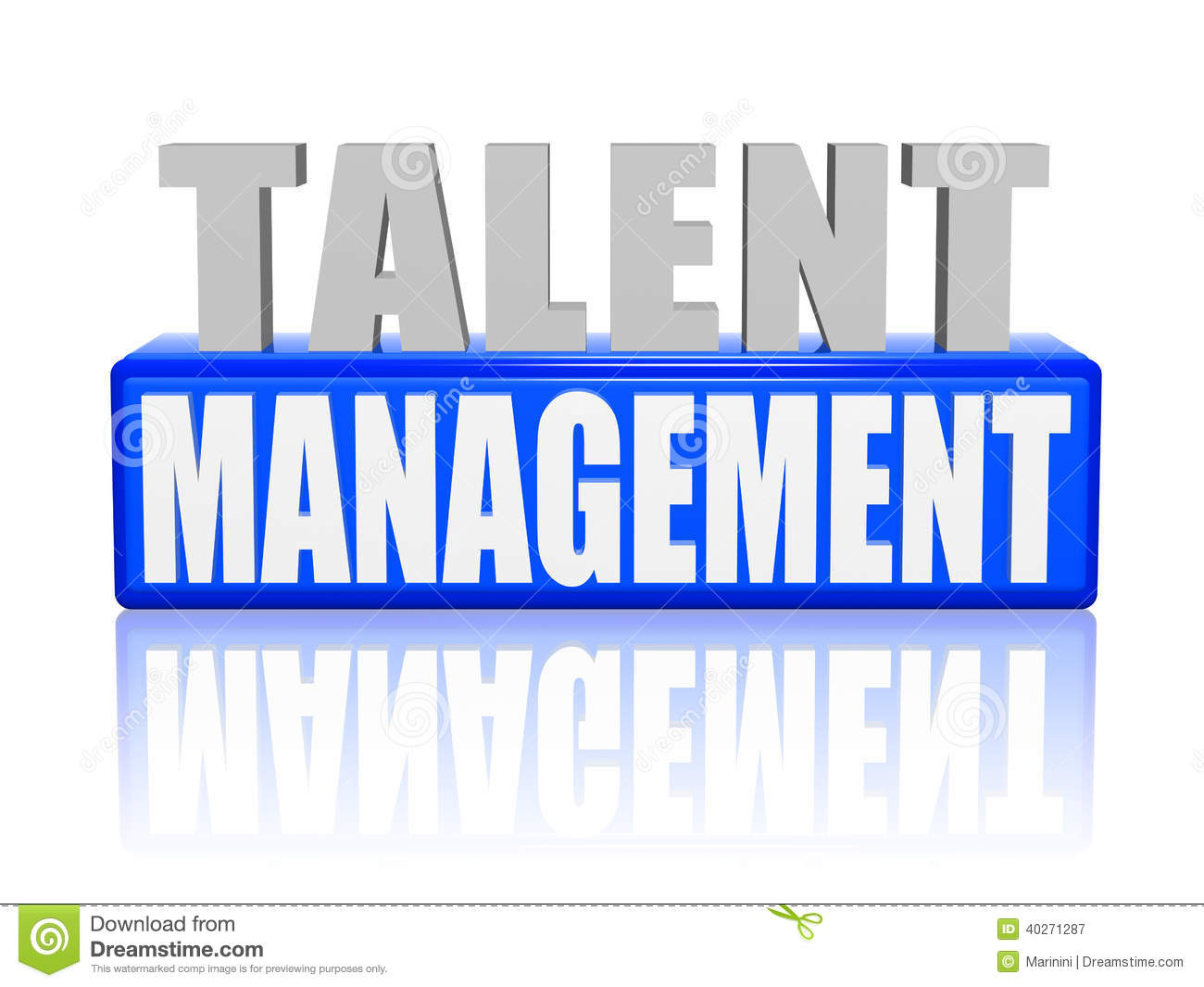 Talent Management In 3d Letters And Block