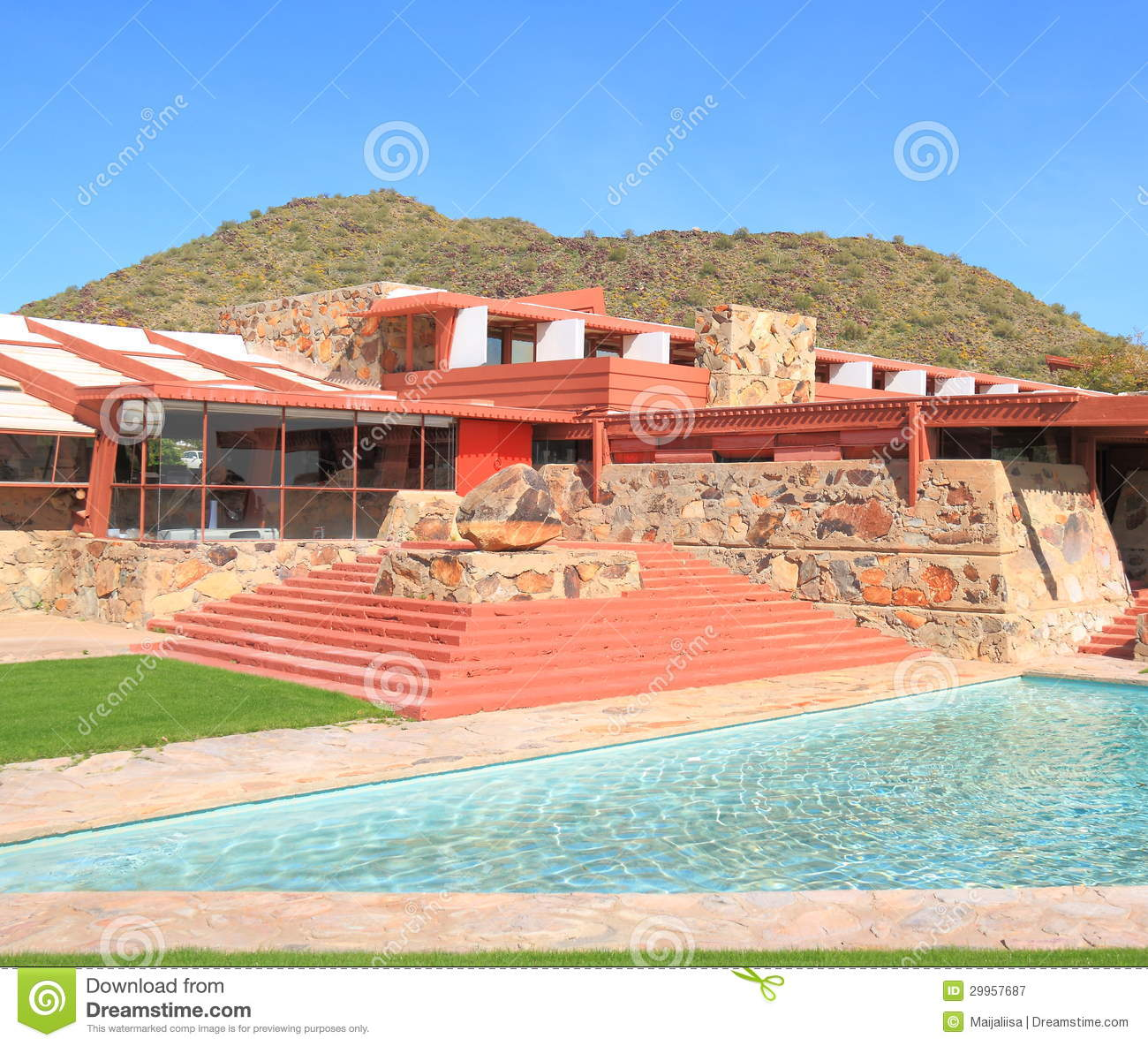 Usa arizona frank lloyd wright taliesin west editorial