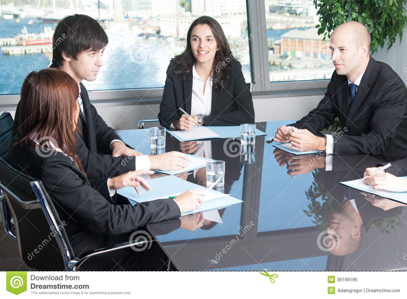 Talk In Board Room Royalty Free Stock Image Image 36169196