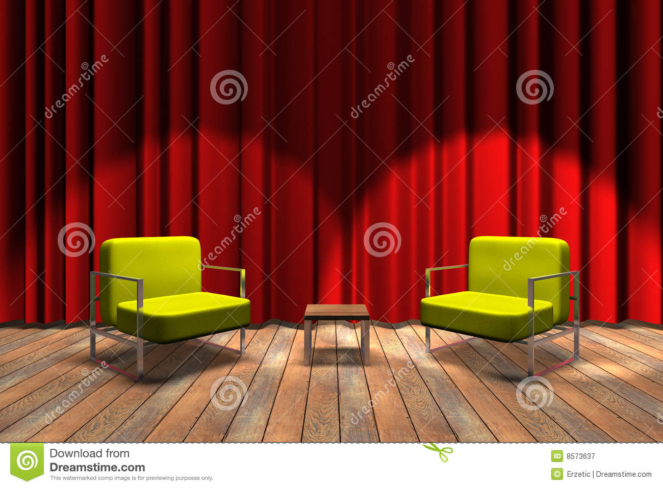 Talk Show Ready Royalty Free Stock Photography - Image: 8573637