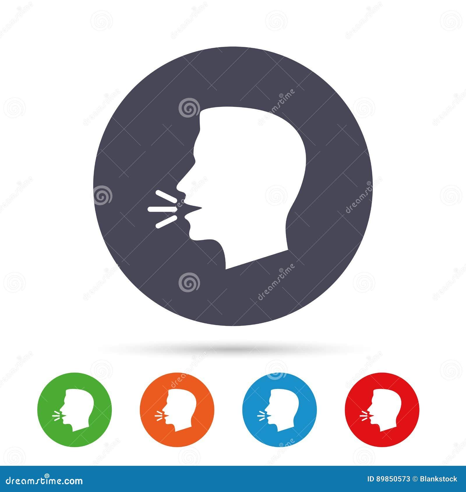 Talk Or Speak Icon Loud Noise Symbol Stock Vector Illustration