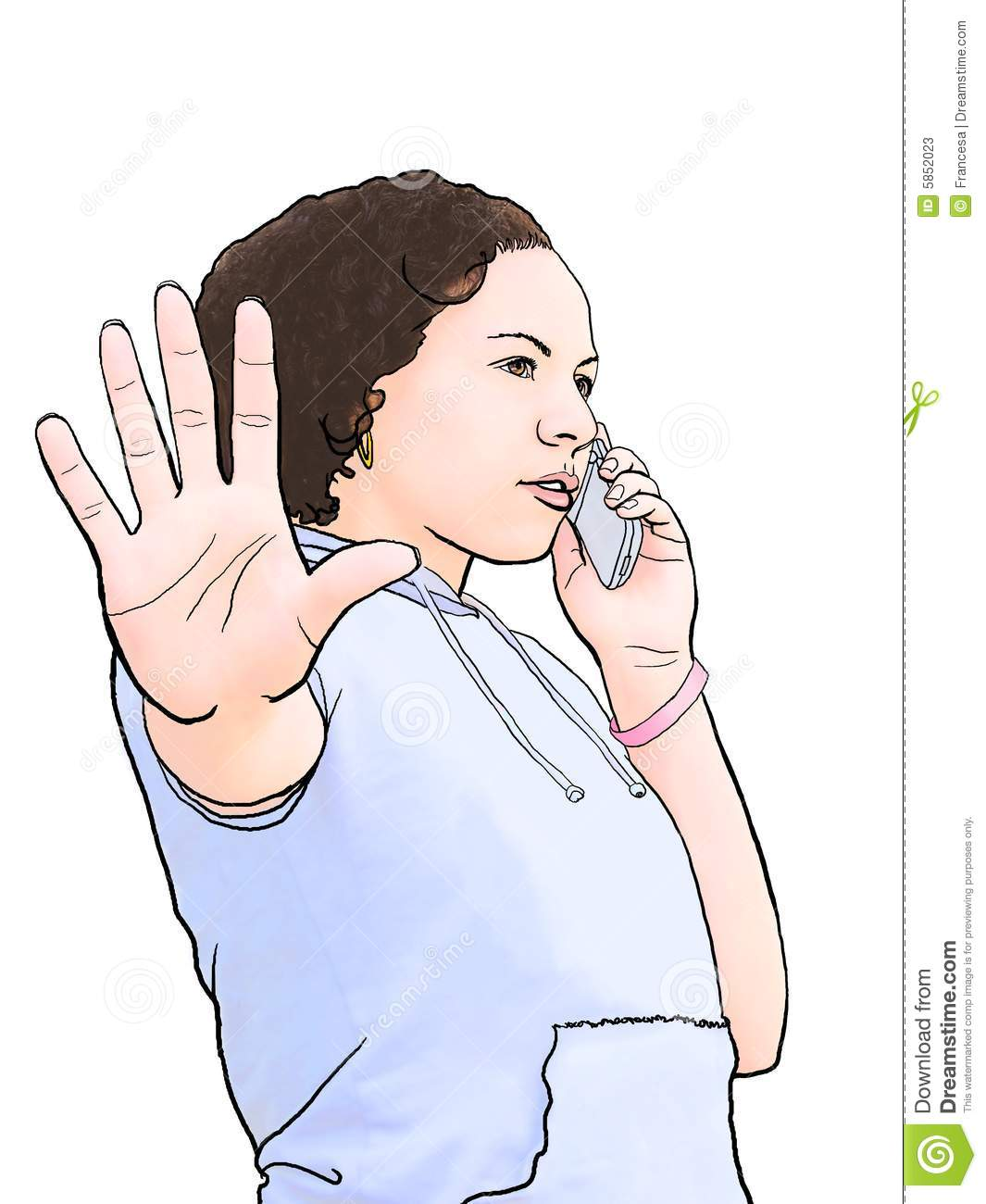 Talk To The Hand Stock Photos Image 5852023