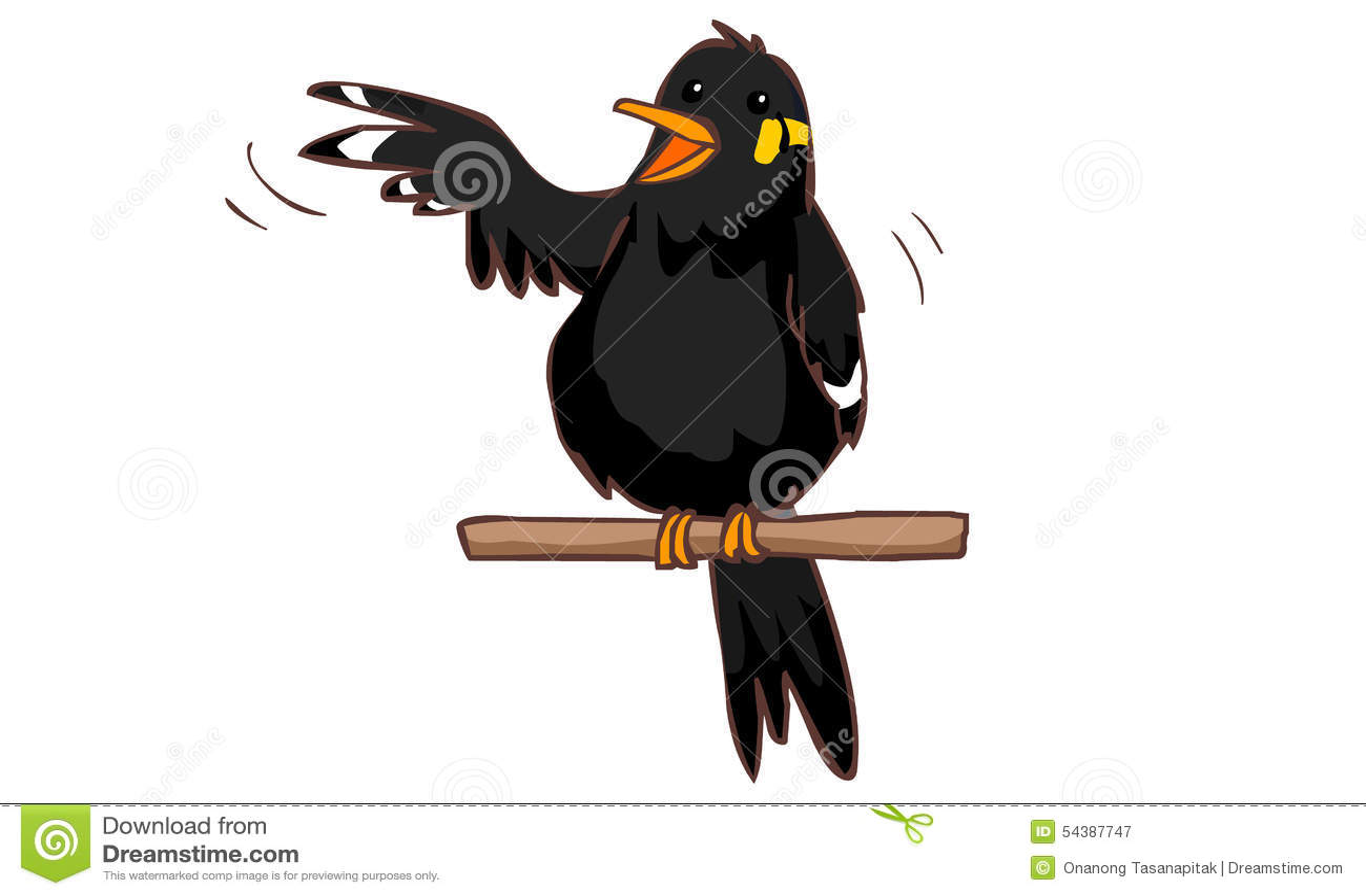 Talkative Hill Myna Bird Stock Vector - Image: 54387747 - photo#7