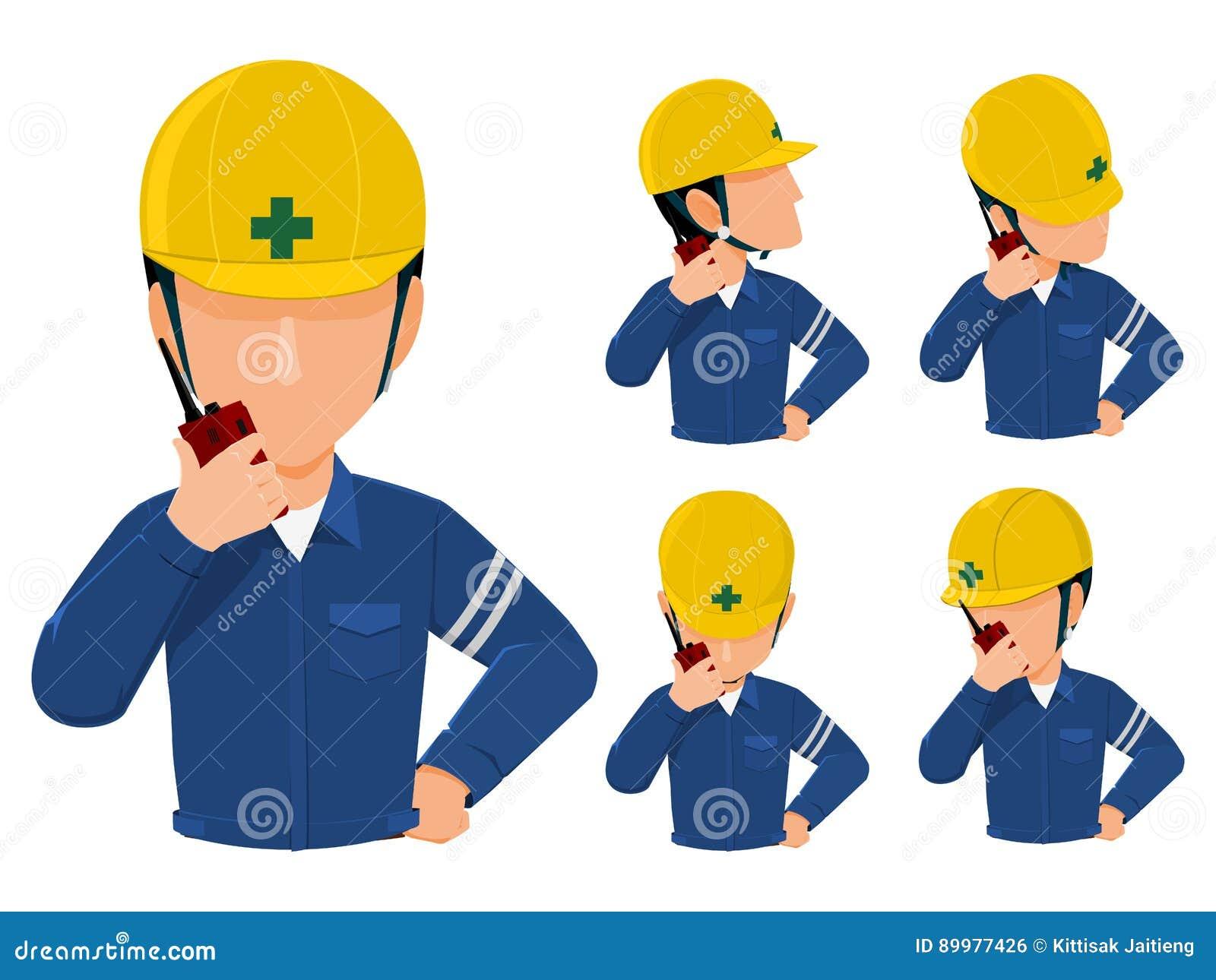 Talkie dos walkies do uso do coordenador