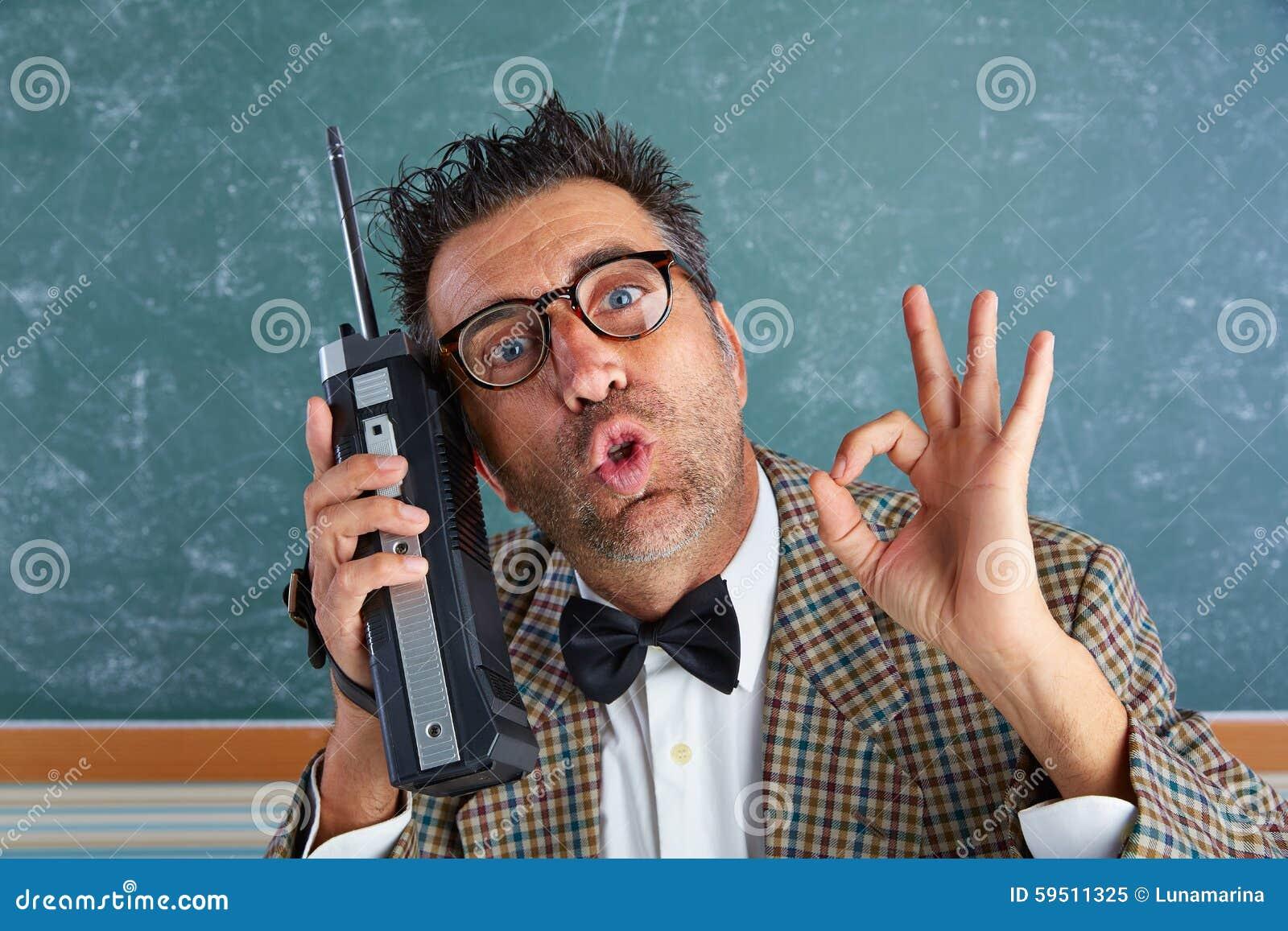 Talkie för walkie för enfaldig privatdetektiv för Nerd retro