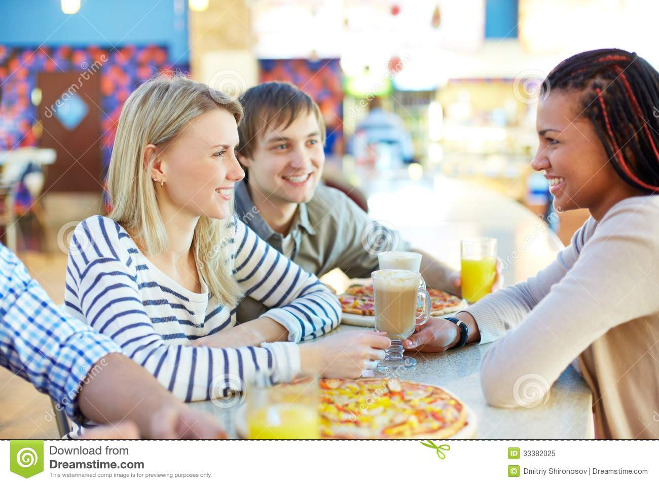 Talking In Bar Royalty Free Stock Photo - Image: 33382025