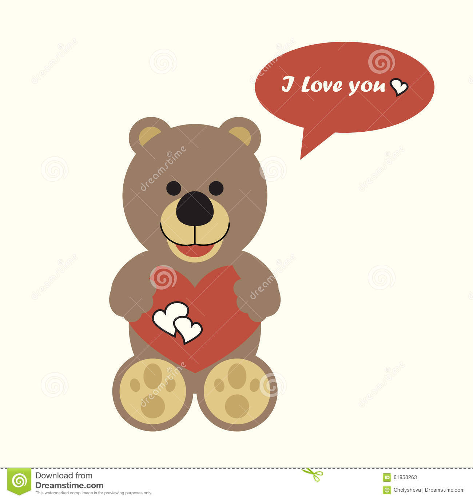 Valentine S Day Talking Toys : Talking bear stock vector image