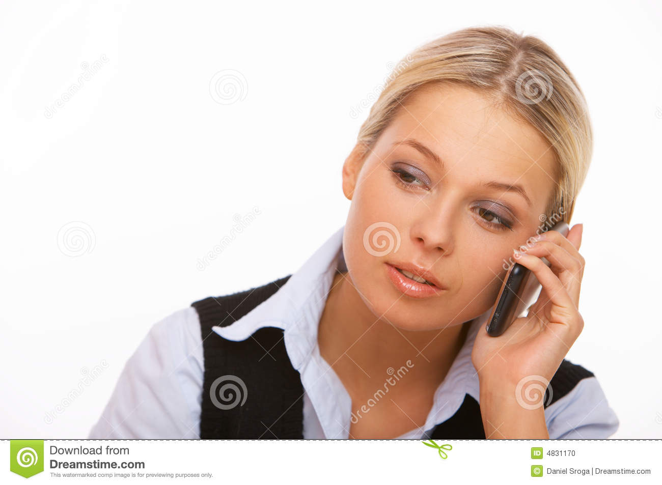 Talking Cell Phone Stock Photo - Image: 4831170